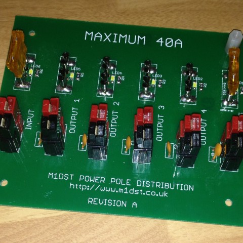 DC Distribution PCB (populated)